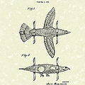 Airplane Bird Body Design 1943 Patent Art by Prior Art Design