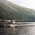 Airplane On Lake by C Sitton