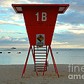 Ala Moana Lifeguard Station by Mark Gilman