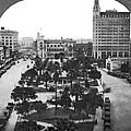 Alamo Plaza In San Antonio by Underwood Archives