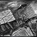 Alcatraz Gaurd Cage Bw by Blake Richards