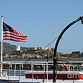 Alcatraz Island Through The Hyde Street Pier In San Francisco California . 7d14163 by Wingsdomain Art and Photography