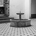 Alcazar Courtyard In Black And White by Greg Matchick