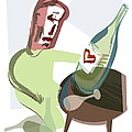 Alcoholism, Conceptual Artwork by Paul Brown