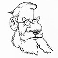 Alfred Wallace, Caricature by Gary Brown