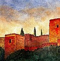 Alhambra At Sunset by Barbara Smith