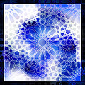 Alhambra Pattern Blue by Hakon Soreide