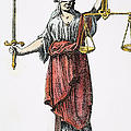 Allegory: Justice, 1726. Line Engraving (detail), German by Granger