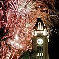 Aloha Tower Fireworks by Joe Carini - Printscapes