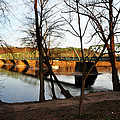 Alongside The Uhlerstown Frenchtown Bridge by Bill Cannon