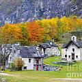 Alpine Village In Autumn by Mats Silvan