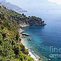 Amalfi Coast At Conca Dei Marini by George Oze