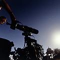 Amateur Astronomer Observing A Solar Eclipse by Dr Fred Espenak