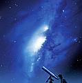 Amateur Astronomy, Computer Artwork by Detlev Van Ravenswaay