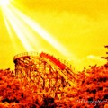 #amazing Shot Of A #rollercoaster At by Pete Michaud