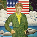 Amelia Earhart Calendar Art by Frank Hunter