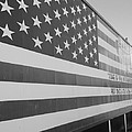 American Flag At Nathan's In Black And White by Rob Hans