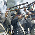 American Infantry Firing by JT Lewis