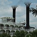 American Queen Smokestacks by Willy  Nelson