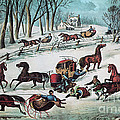 American Winter 1870 by Photo Researchers
