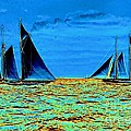 America's Cup Contenders Idler And Hildegarde 1901 by Padre Art