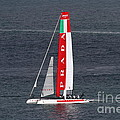 America's Cup In San Francisco - Italy Luna Rossa Paranha Sailboat - 7d19041 by Wingsdomain Art and Photography