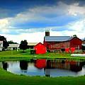 Amish Farm by Mendell Patton