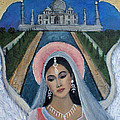 Amishi An Earth Angel Representing A Young Bride On Her Wedding Day by The Art With A Heart By Charlotte Phillips