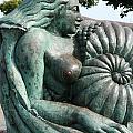 Ammonite Statue by Carol Ann Thomas