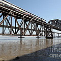 Amtrak Train Riding Atop The Benicia-martinez Train Bridge In California - 5d18829 by Wingsdomain Art and Photography