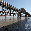 Amtrak Train Riding Atop The Benicia-martinez Train Bridge In California - 5d18830 by Wingsdomain Art and Photography