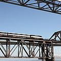 Amtrak Train Riding Atop The Benicia-martinez Train Bridge In California - 5d18837 by Wingsdomain Art and Photography