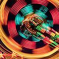 Amusement Park Ride At Night by Bryan Mullennix