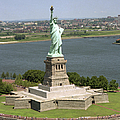 An Aerial View Of The Statue Of Liberty by Stocktrek Images