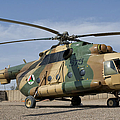 An Afghan Air Force Mi-17 Helicopter by Giovanni Colla