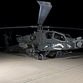 An Ah-64d Apache Longbow At Night by Terry Moore