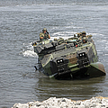 An Amphibious Assault Vehicle Climbs by Stocktrek Images
