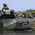 An Amphibious Assault Vehicle Enters by Stocktrek Images