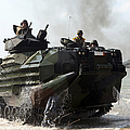 An Amphibious Assault Vehicle Hits by Stocktrek Images