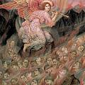 An Angel Piping To The Soulds In Hell by Evelyn De Morgan