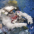 An Astronaut Is Submerged In The Water by Stocktrek Images