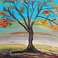 An Autumn Locust Tree by Mary Carol Williams