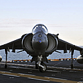An Av-8b Harrier Maneuvers by Stocktrek Images