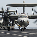 An E-2c Hawkeye Aircraft On The Flight by Stocktrek Images