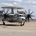 An E-2c Hawkeye On The Runway At Cannon by Stocktrek Images