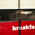 An Early Morning Diner Reads The Paper by Stephen St. John