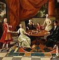 An Elegant Family Taking Tea  by Gavin Hamilton