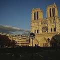 An Exterior View Of Notre Dame by Raul Touzon