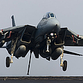 An F-14d Tomcat Comes In For An by Gert Kromhout
