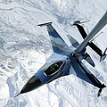 An F-16 Aggressor Sits In Contact by Stocktrek Images